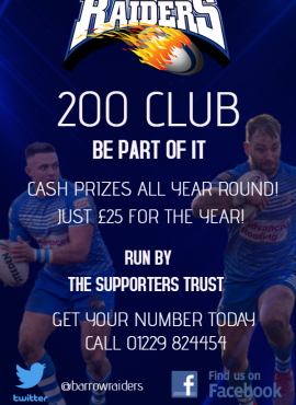 200 Club – Please hit click and collect